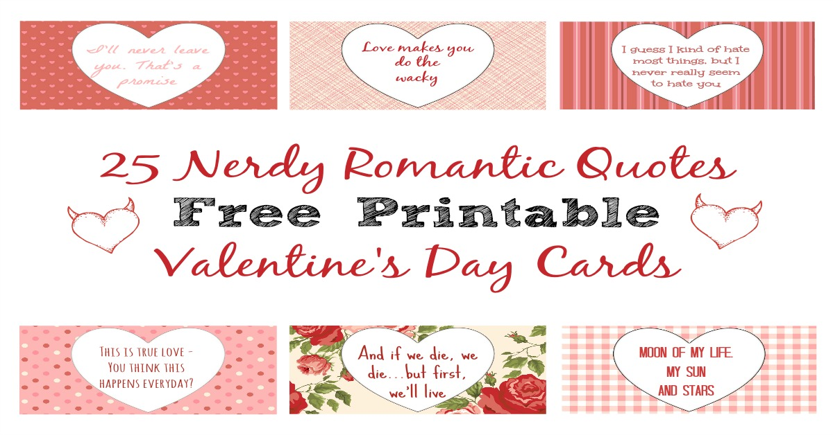 25 Nerdy Love Quotes For Him Her Free Printables