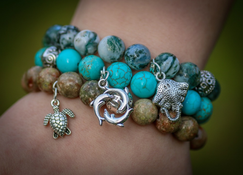 Wildlife bracelets that give back, fair trade,, Marine Life Collection