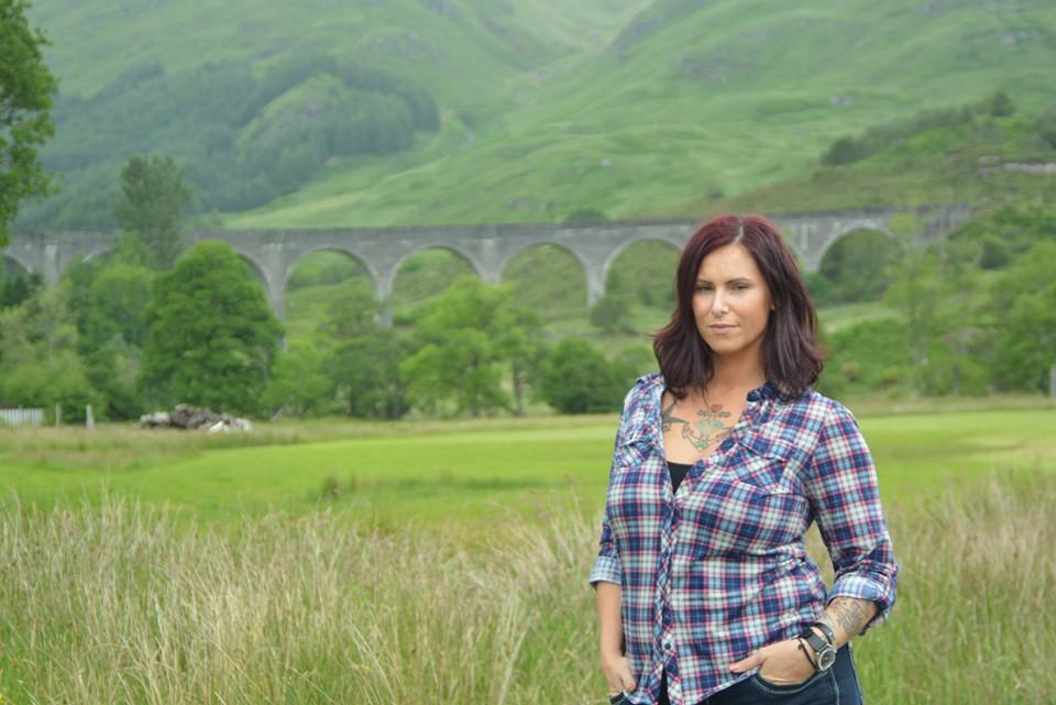 Christa Thompson, Glenfinnan Viaduct, Scotland, traveling alone