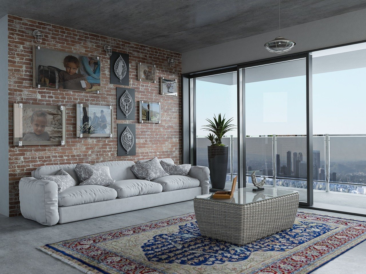 Furnished apartments for travel, window view