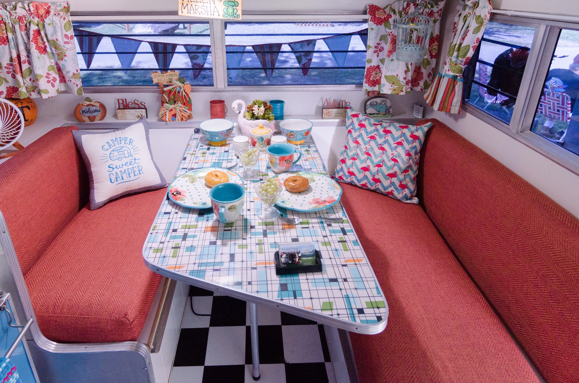 life in a van, rv dining table, camper life